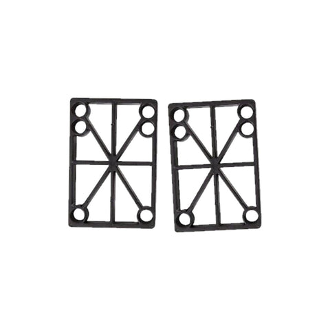 Skateboard Riser Pad 2 pcs Black