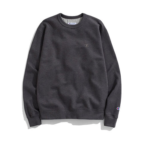 Champion Powerblend̴ Fleece Pullover Crew Dark Heather