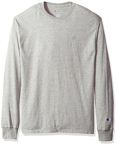 Champion Classic Cotton Long-Sleeve Tee Oxford Grey