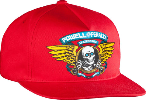 Powell Peralta Cap Winged Ripper Snap Back Red
