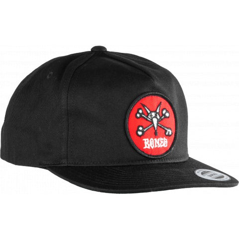 Powell Peralta Cap Vato Rat Patch Snapback Black