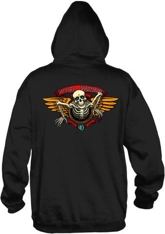Powell Peralta 40th Anniversary Winged Ripper Hooded Black