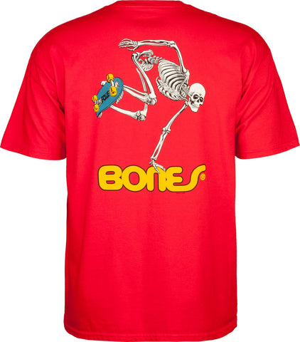 Powell Peralta Skate Skeleton T-shirt Red