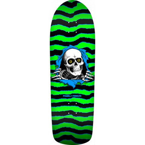 Powell Peralta Deck Old School Ripper Skateboard Green/Black - 10 x 31.75