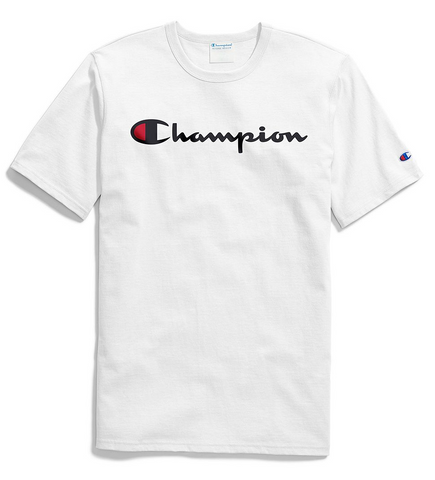 Champion Life® Men's Script Logo Tee White