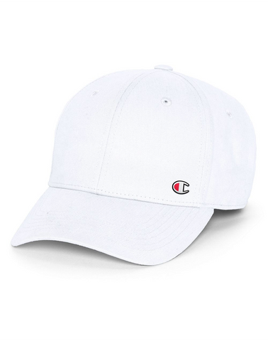 Champion Life® Classic Twill Hat, C Patch Logo - White