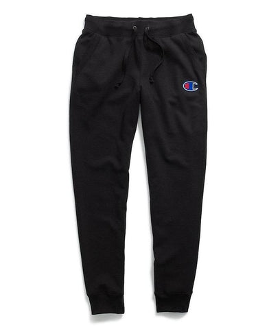 Champion Women's Powerblend® Fleece Joggers, Applique C Logo - Black