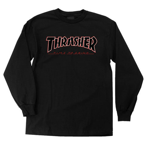 Thrasher TTG Regular L/S Independent T-Shirt Black