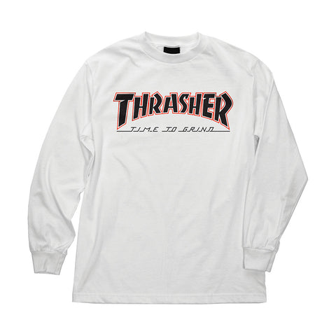 Thrasher TTG Regular L/S Independent Mens T-Shirt White