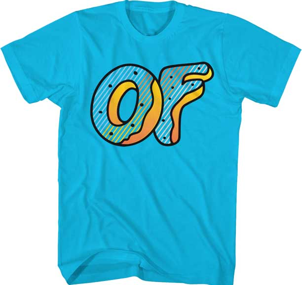 928cd284dc6 Odd Future Multi Striped Donut Logo Tee Turquoise – CrazeeCausa
