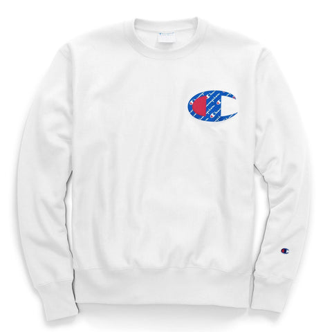 Champion RW Sublimated C Logo Crewneck (White)