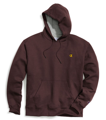 Champion Powerblend® Pullover Hoodie Maroon/C Gold
