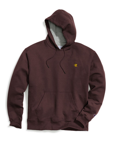 Champion Men's Powerblend® Sweats Pullover Hoodie - Maroon/Team Gold