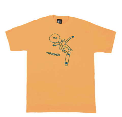 Thrasher Kcuf T-Shirt Gold