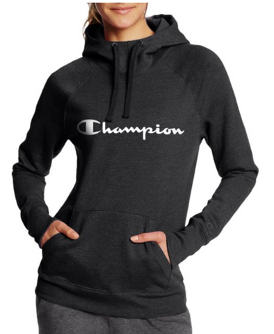 Champion Women's Fleece Pullover Hoodie Black