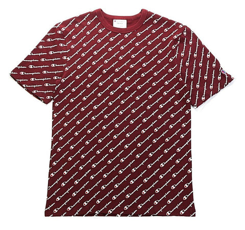 Champion Life® Men's All Over Script Logo Tee Maroon