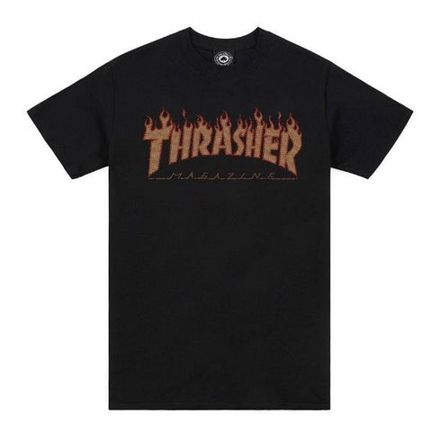 Thrasher Flame Halftone Tee Black