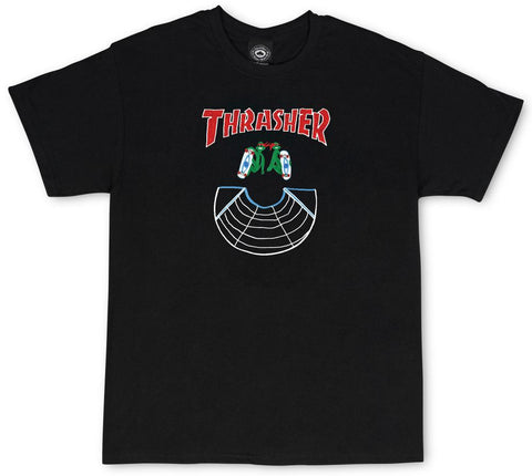 Thrasher Doubles T-Shirt - Black