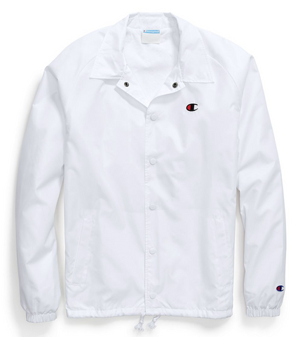 Champion Life® Coaches Jacket, West Breaker Edition White