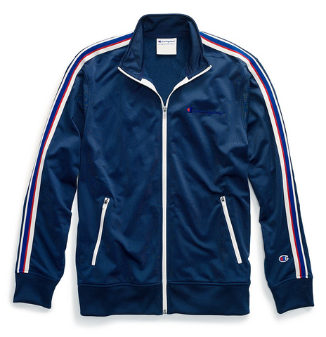 Champion Life® Men's Track Jacket, Embroidered Logo - Midnight Vista Blue