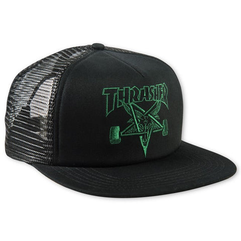Thrasher Embroidered Skategoat Mesh Cap Black/Green