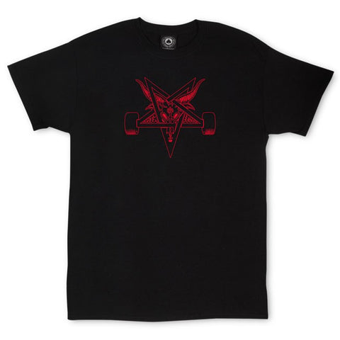 Thrasher Blackout T-Shirt Black/Red
