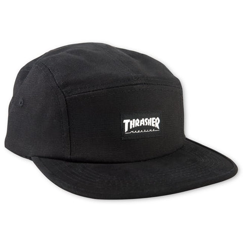 Thrasher Cap 5 Panel Hat Black