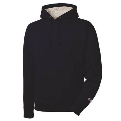 Champion Heritage Fleece Pullover Hoodie Property Of Navy Heather