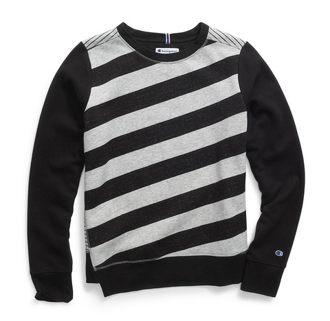 Champion Heritage Fleece Asymmetrical Stripe Crew