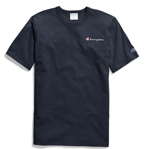 Champion Life® Small Script Embroidery T-Shirt Navy