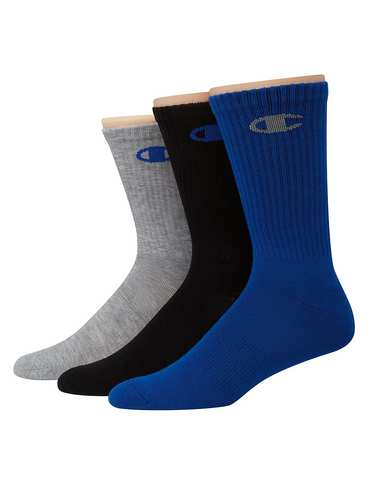 20%-Champion Men's Performance Crew Socks 3-Pack