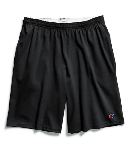 Champion Cotton 9-Inch Men's Shorts with Pockets - Black