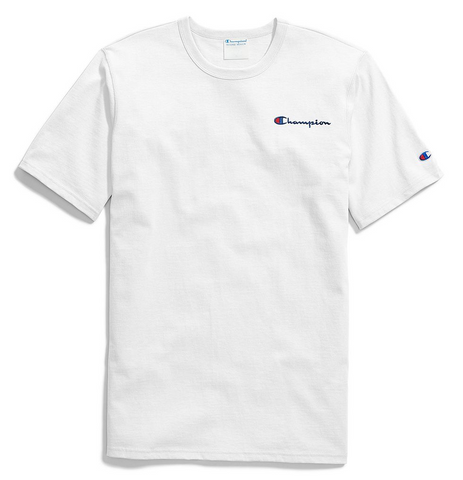 Champion Life® Small Script Embroidery T-Shirt White