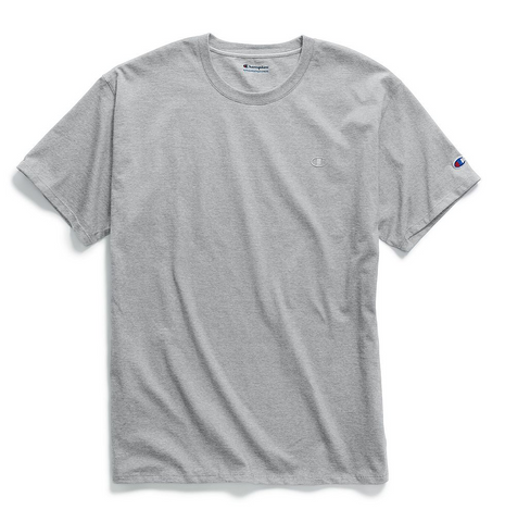 Champion Classic Chest & Sleeve Logo T-Shirt Oxford Grey