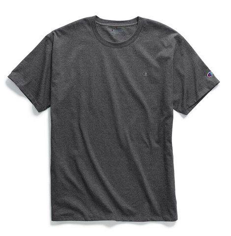 Champion Classic Chest & Sleeve Logo T-Shirt Granite Heather