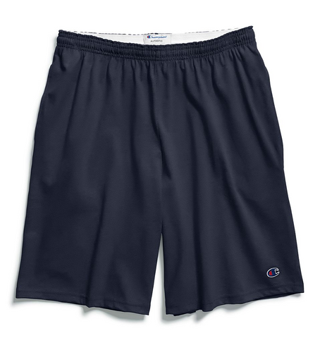 Champion Cotton 9-Inch Men's Shorts with Pockets - Navy