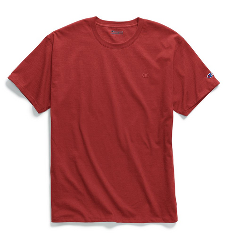 Champion Classic Chest & Sleeve Logo T-Shirt Red
