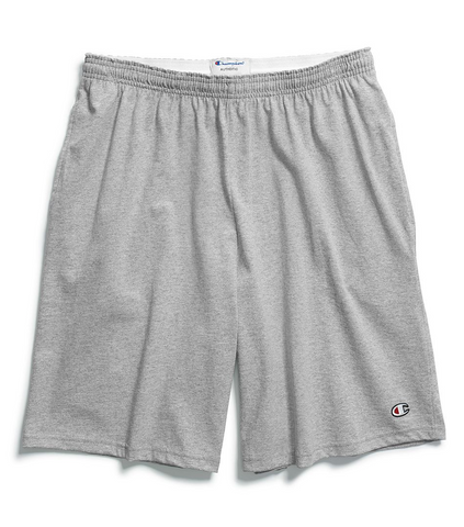 Champion Cotton 9-Inch Men's Shorts with Pockets - Oxford Grey