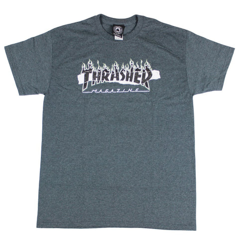 Thrasher Ripped Dark Heather