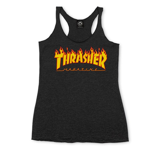 Thrasher Girls Flame Logo Racerback Tank