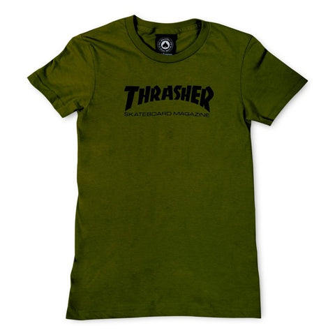 Thrasher Girls Skate Mag T-Shirt Olive Green