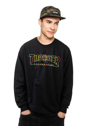 Thrasher Cable Car Long Sleeve T-Shirt Black