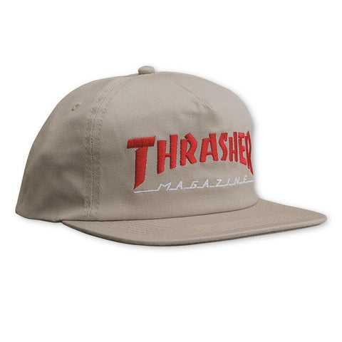 f12fa74d474 Thrasher Magazine Logo Two-Tone Hat Tan