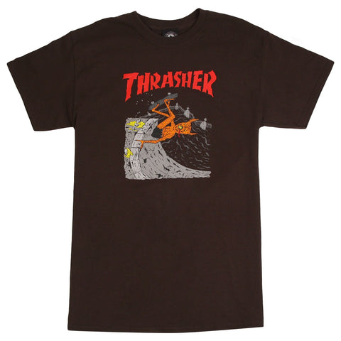 Thrasher Neckface Invert T-Shirt Brown