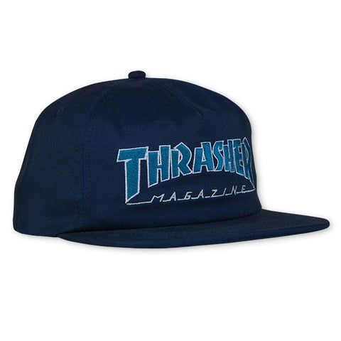 Outlined Snapback (Navy/Gray)