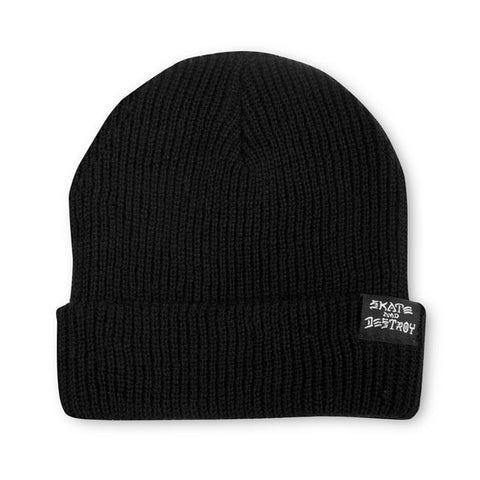 Thrasher Skategoat/Skate And Destroy Beanie Black