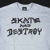 Thrasher Skate And Destroy T-Shirt Grey