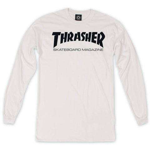 Thrasher Skate Mag Long Sleeve T-Shirt White