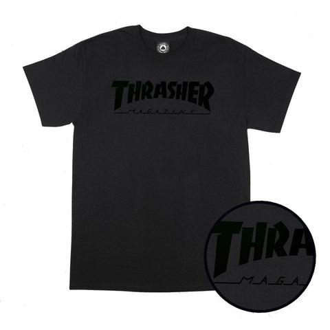 Thrasher Magazine Logo T-Shirt Black/Black