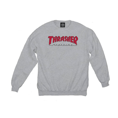 Thrasher SKATE MAG Outline Crew -Grey